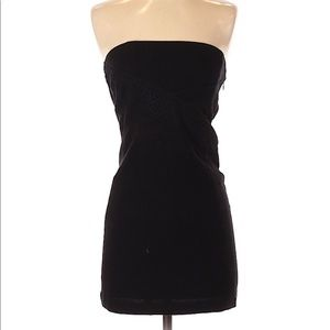 Athe Vanessa Bruno black strapless dress